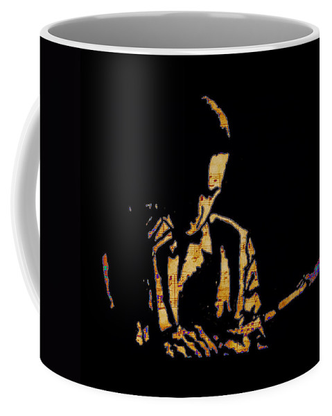 Jazz Player Coffee Mug featuring the painting Jazz Player From New Orleans by Robert Margetts