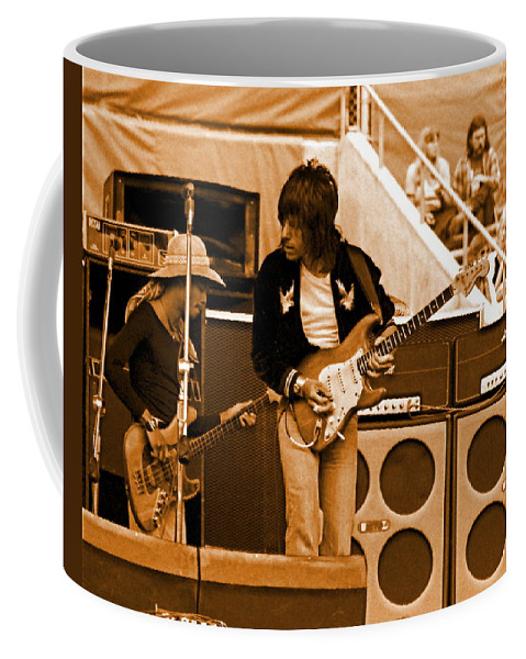 Jeff Beck Coffee Mug featuring the photograph Jb #30 In Amber by Ben Upham