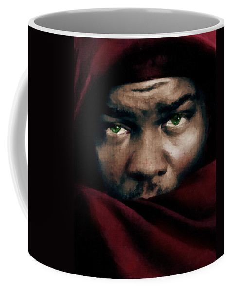 Othello Coffee Mug featuring the painting Jealous Othello by Georgiana Romanovna