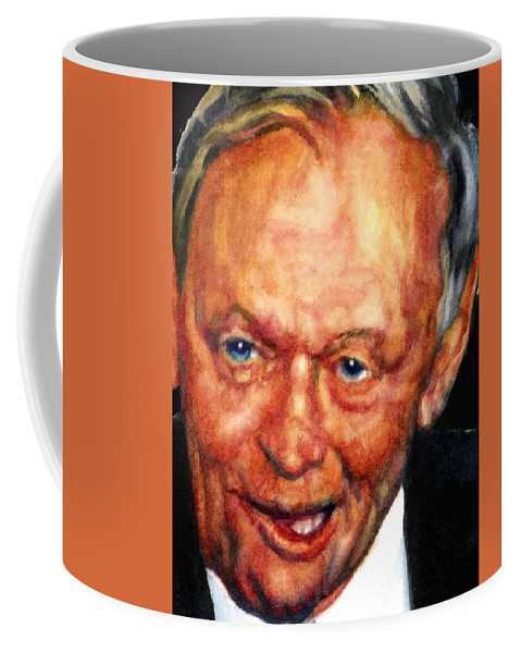 Portrait Of Jean Chretien Coffee Mug featuring the painting Jean Chretien by Hanne Lore Koehler