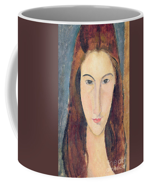 Modigliani Coffee Mug featuring the painting Jeanne Hebuterne by Amedeo Modigliani