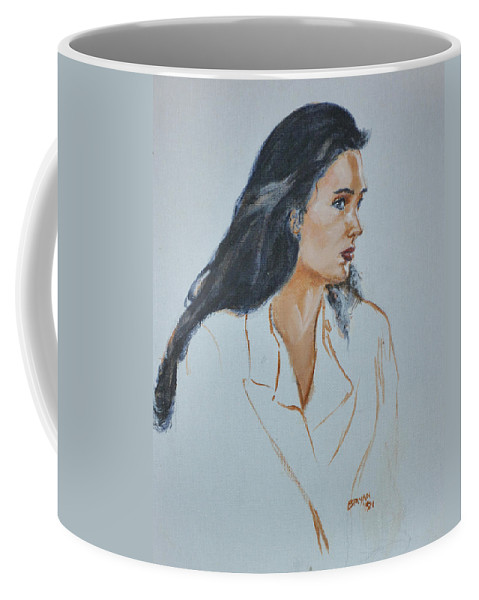 Jennifer Connelly Coffee Mug featuring the painting Jennifer Connelly by Bryan Bustard