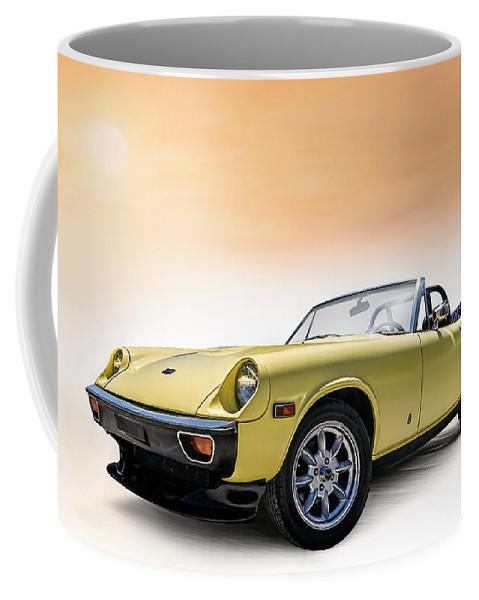 Car Coffee Mug featuring the digital art Jensen Healey by Douglas Pittman