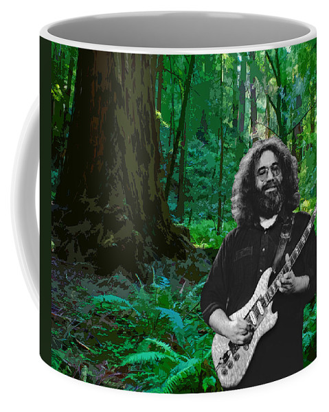 Jerry Garcia Coffee Mug featuring the photograph J G In Muir Woods by Ben Upham
