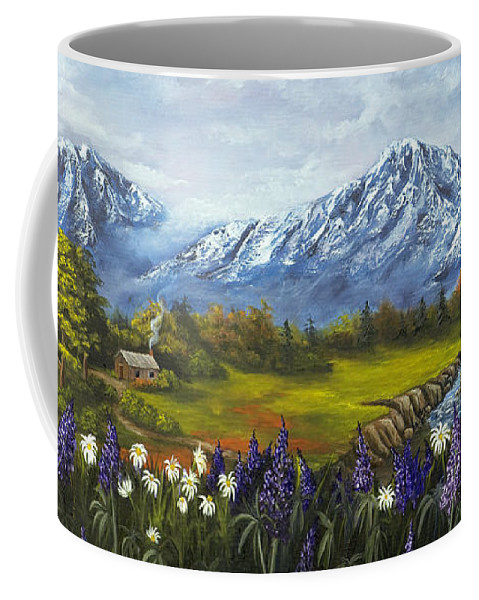 Landscape Coffee Mug featuring the painting Jessy's View by Darice Machel McGuire