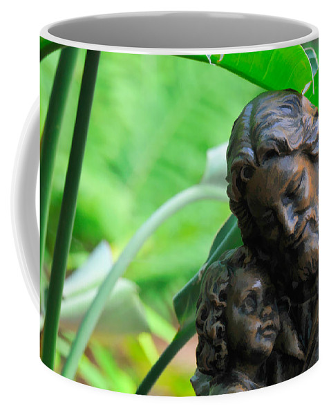 Christianity Coffee Mug featuring the photograph Jesus And Child Statute by Ginger Wakem