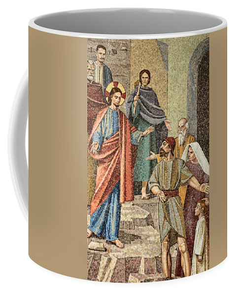 Jesus Coffee Mug featuring the photograph Jesus Visit by Munir Alawi