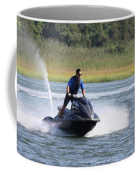 Jet Skier Coffee Mug featuring the photograph Jet Skier by John Telfer