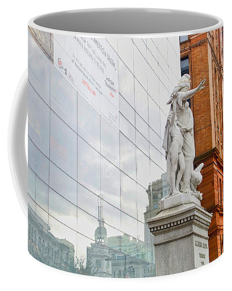 Philadelphia Coffee Mug featuring the photograph Jewish Memorial Reflection by Alice Gipson