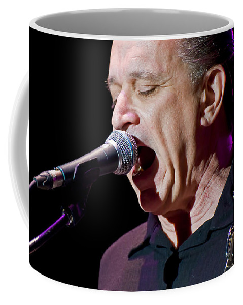 Jimmie Vaughan Coffee Mug featuring the photograph Jimmie Vaughan Sings The Blues by Ginger Wakem