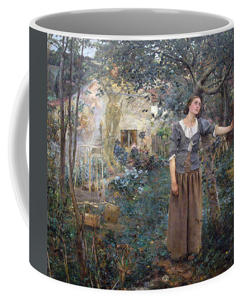 Jules Bastien-lepage Coffee Mug featuring the painting Joan Of Arc by Jules Bastien-Lepage