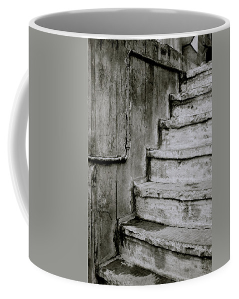 India Coffee Mug featuring the photograph The Monochrome Steps by Shaun Higson