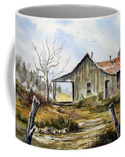 Shack Coffee Mug featuring the painting Joe's Place by Sam Sidders