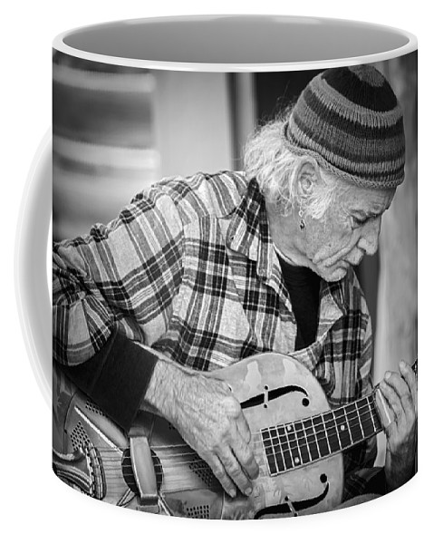2d Coffee Mug featuring the photograph John Decker - Grayscale by Brian Wallace