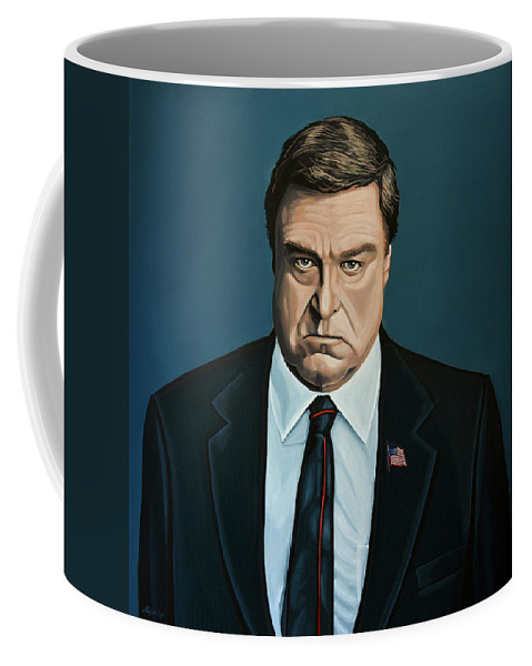 John Goodman Coffee Mug featuring the painting John Goodman by Paul Meijering