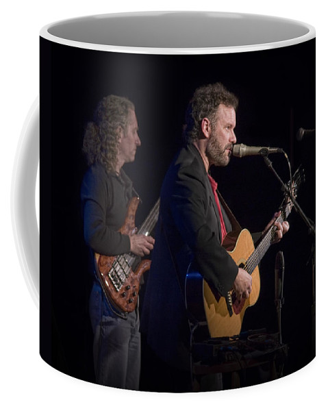 Art Coffee Mug featuring the photograph John Gorka And Michael Manring In Concert by Randall Nyhof