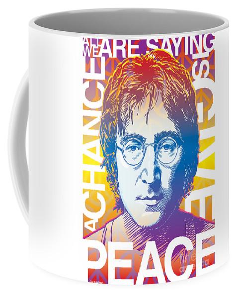 John Lennon Coffee Mug featuring the drawing John Lennon Pop Art by Jim Zahniser