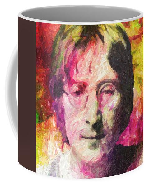 John Lennon Coffee Mug featuring the painting John Lennon by Zapista OU