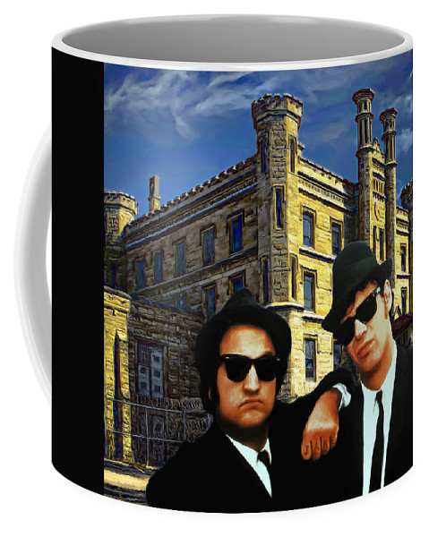 Joliet Prison Coffee Mug featuring the painting Joliet Class Of 1978 by Dominic Piperata