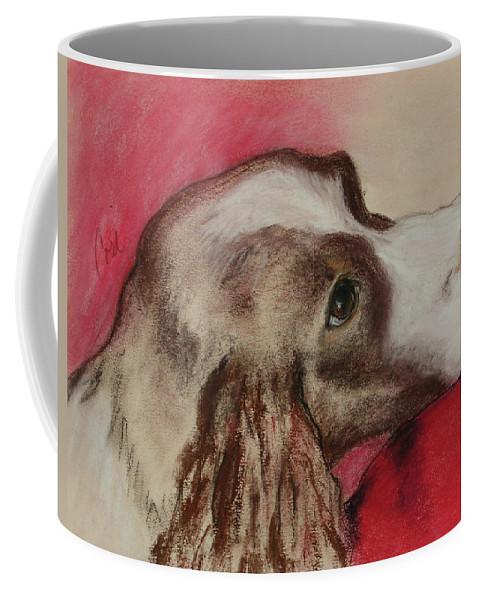 Springer Spaniel Coffee Mug featuring the drawing Jourdan by Cori Solomon