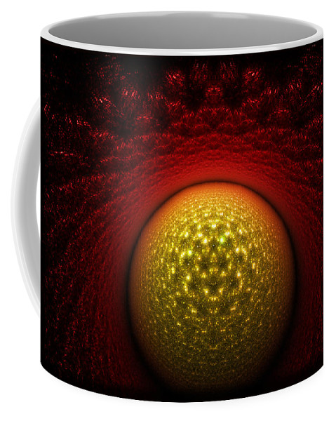 Journey Coffee Mug featuring the digital art Journey To The Center by Brian Kenney