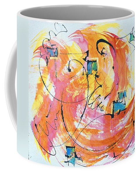 Mixed Media Painting Coffee Mug featuring the painting Joy by Asha Carolyn Young