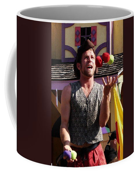 Juggler Coffee Mug featuring the photograph Juggler by Rodney Lee Williams