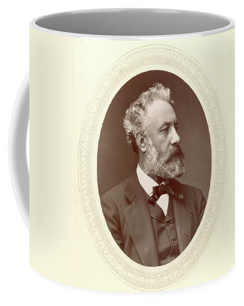 1877 Coffee Mug featuring the photograph Jules Verne (1828-1905) by Granger