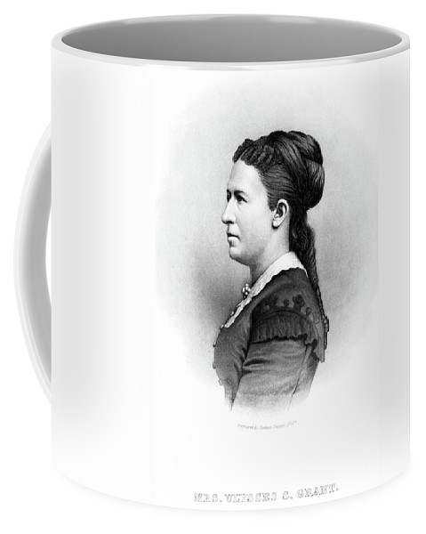 1880 Coffee Mug featuring the painting Julia Dent Grant (1826-1902) by Granger