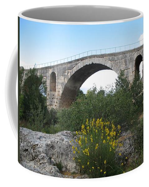 Roman Stonebridge Coffee Mug featuring the photograph Julian Bridge Provence by Christiane Schulze Art And Photography