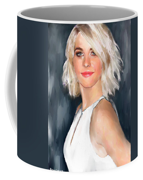 Figure Coffee Mug featuring the painting Julianne Hough by Scott Bowlinger