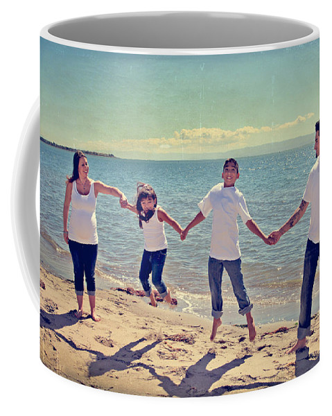 Alameda Beach Coffee Mug featuring the photograph Jump For Joy by Laurie Search