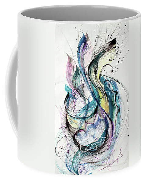 Abstract Painting Coffee Mug featuring the painting Jumping by Asha Carolyn Young