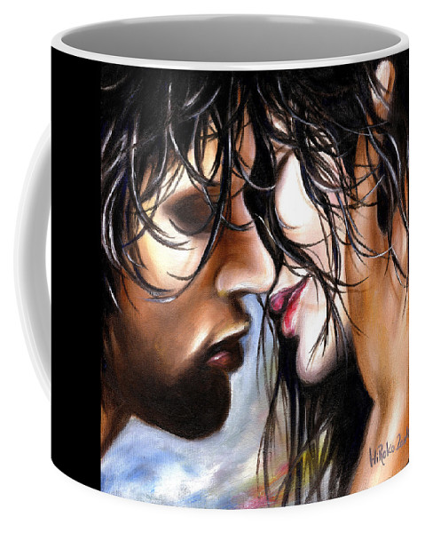 Lovers Coffee Mug featuring the painting June Breeze by Hiroko Sakai