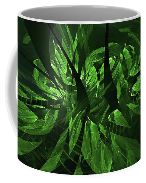 Helicopter Wash Coffee Mug featuring the digital art Jungle Clearing by Doug Morgan