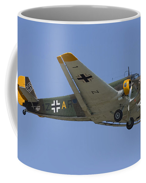 3scape Coffee Mug featuring the photograph Junkers Ju-52 by Adam Romanowicz