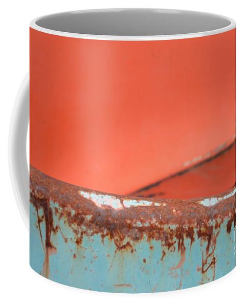 Rust Coffee Mug featuring the photograph Junkyard Horizon by Brian Boyle