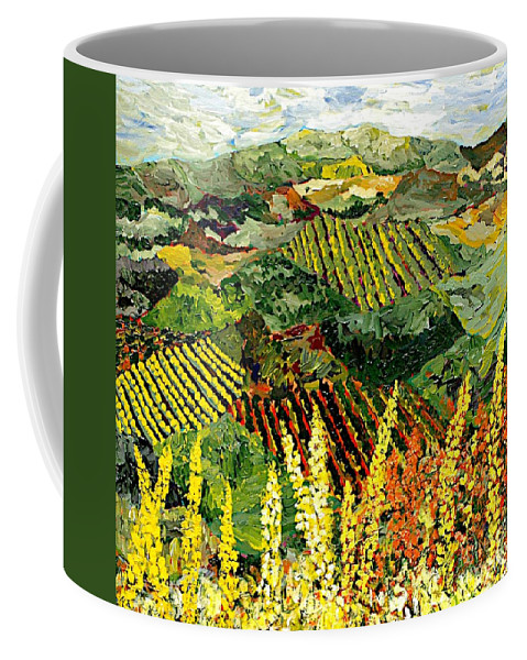 Landscape Coffee Mug featuring the painting Just A Little Valley by Allan P Friedlander