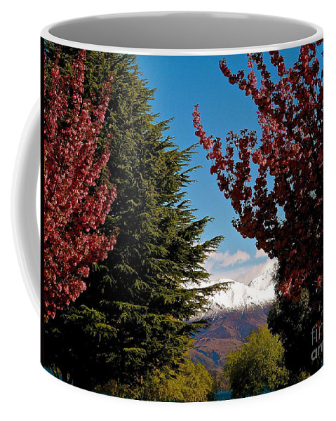 New Zealand Coffee Mug featuring the photograph Just A Peak by Cheryl Cutler
