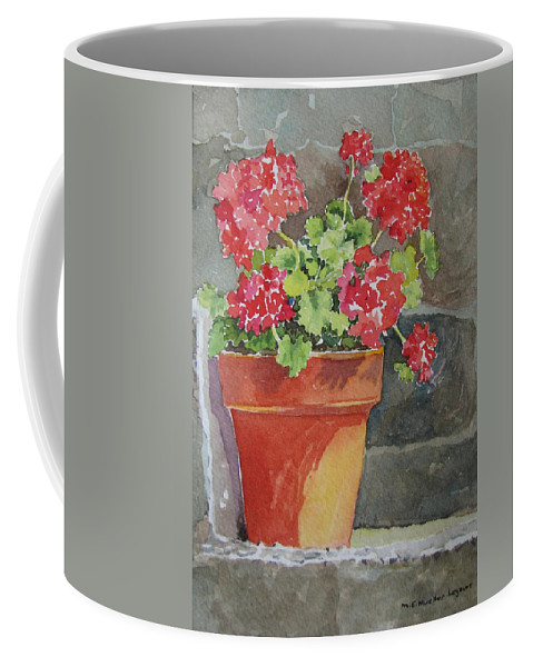 Claypots Coffee Mug featuring the painting Just Basking In The Sun by Mary Ellen Mueller Legault