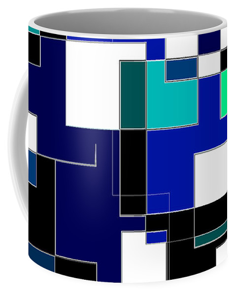 Blue Coffee Mug featuring the digital art Just Colors And Lines Blue by Mary Bedy