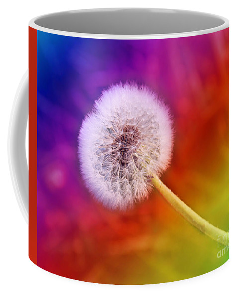 Abstract Coffee Mug featuring the photograph Just Dandy Rainbow by Andee Design