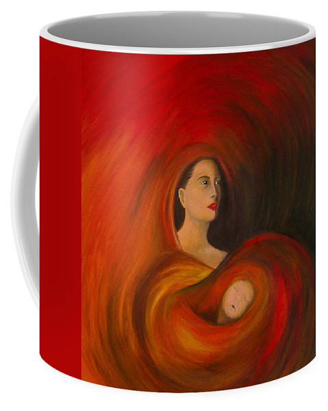 Verve Coffee Mug featuring the painting ..just Love.. by Fanny Diaz