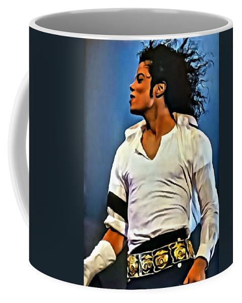 Michael Jackson Coffee Mug featuring the painting Just Michael by Florian Rodarte