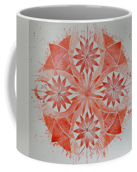Mandala Coffee Mug featuring the painting Just Red Mandala by Andrea Thompson