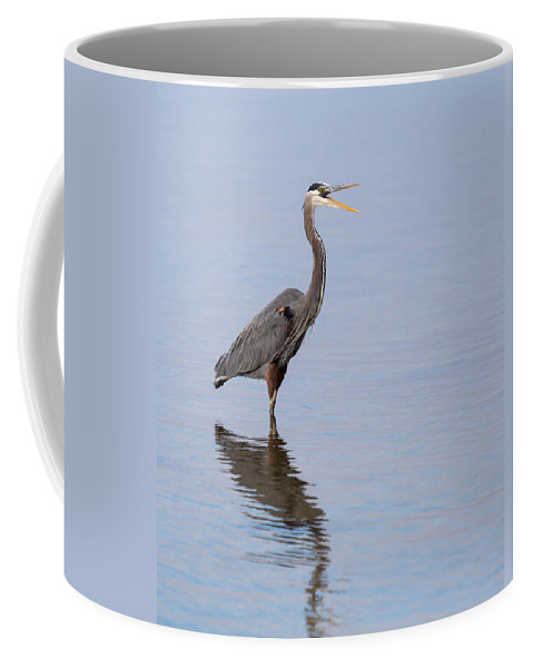 Great Blue Heron Coffee Mug featuring the photograph Just Saying Howdy by John M Bailey