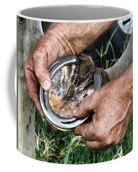 Horse Coffee Mug featuring the photograph Just The Right Fit by Shannon Story