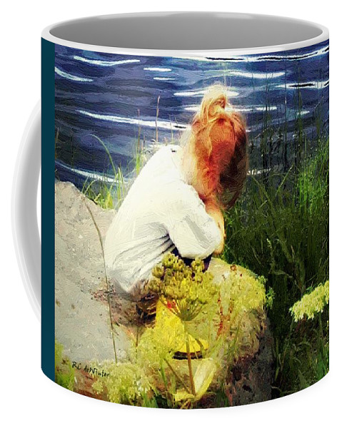 Child Coffee Mug featuring the painting Just Thinkin' by RC DeWinter