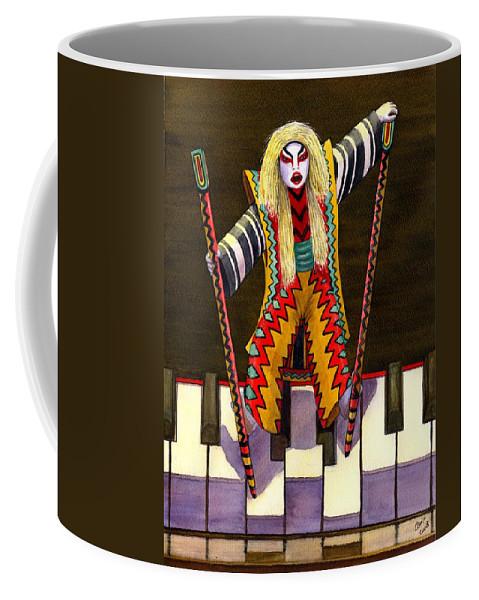 Kabuki Coffee Mug featuring the painting Kabuki Chopsticks 2 by Catherine G McElroy