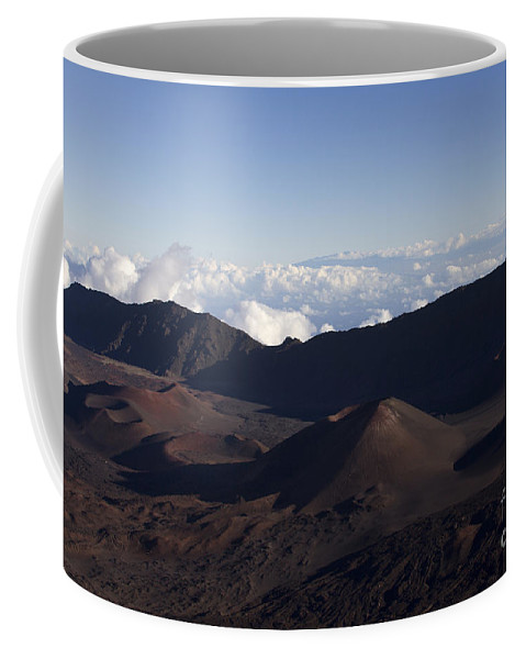 Aloha Coffee Mug featuring the photograph Kalahaku Overlook Haleakala Maui Hawaii by Sharon Mau